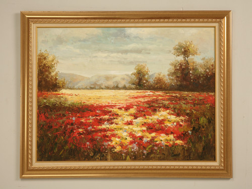 Decorative Field of Flowers Oil Painting