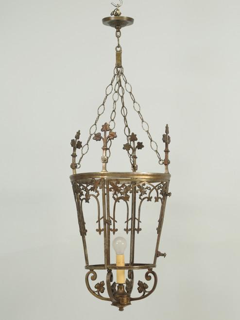 Antique French Solid Bronze Lantern
