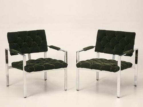 Milo Baughman Chrome Chairs Front
