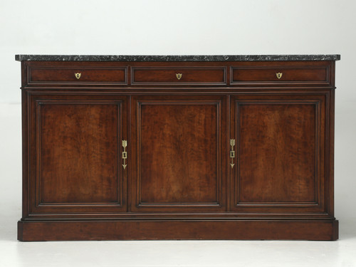 Antique French Buffet Thick Marble Top Front
