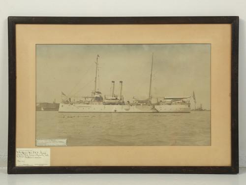 Signed Photo Admiral Dewey USS Isle de Luzon