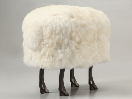 Old Plank Collection Sheep Ottoman Main
