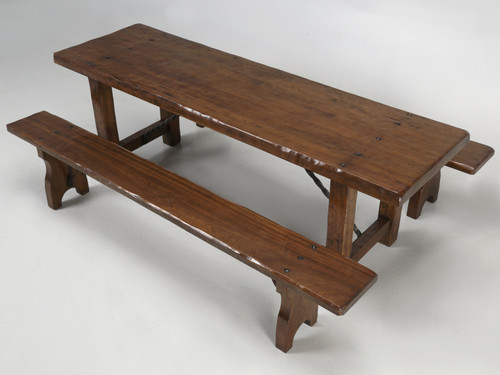 French Farm Table with Matching Benches Main
