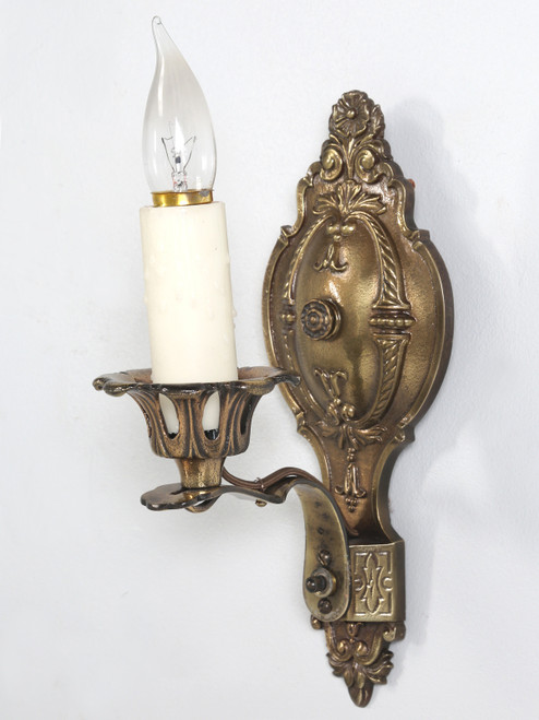 American Single Brass Sconce Angled