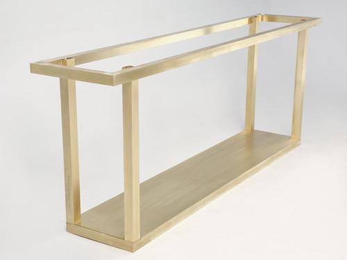 Custom Gabriella Crespi Brass Console Table