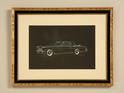 Painting 1956-57 Lincoln Automobile Dom Pacitti