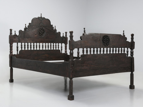 Antique Spanish Colonial Style Bed Queen
