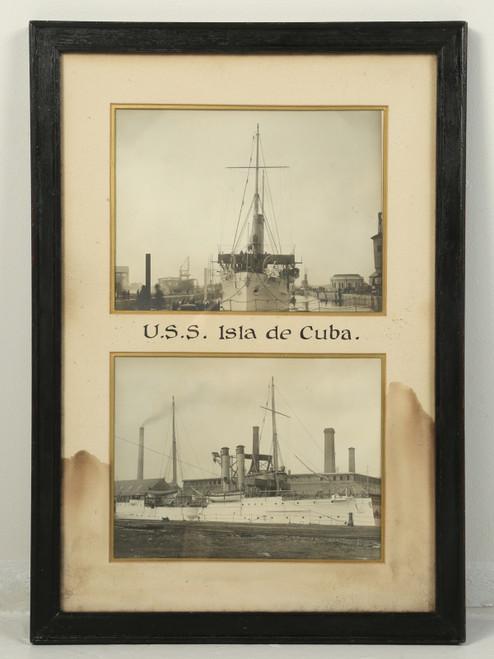 Photograph of the U.S.S. Isla De Cuba Warship