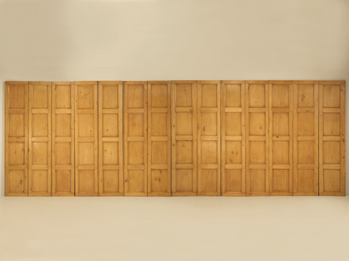 Antique Irish Pine Paneling circa 1837 ''14'' Panels