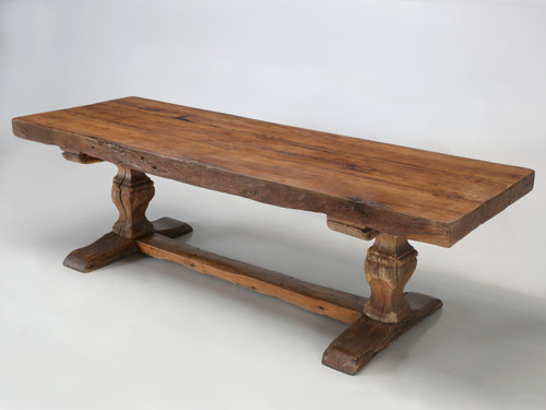 Antique French Trestle Table, circa 300 Years Old Main