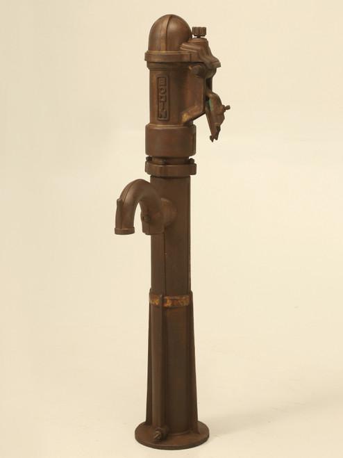 Antique French Cast Iron Garden Fountain Pump Front