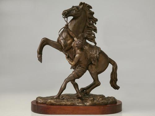 Antique Continental Bronze Figural Relief
