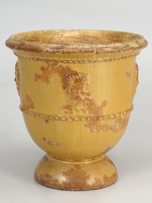 Anduze Pot or Planter from the South of France Worn Side