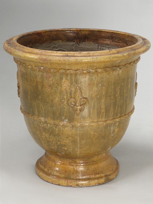 French Vase or Pot from Anduze, France Front Tilted