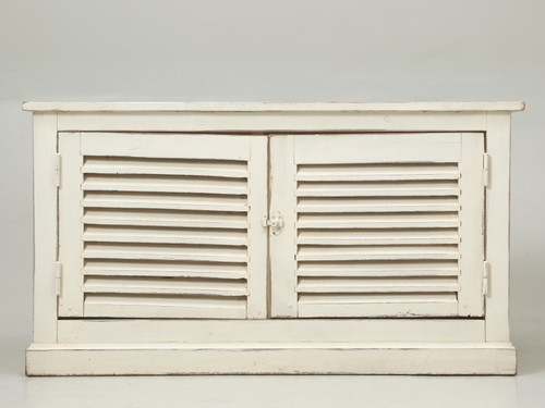 Country French Louvered Cabinet or Low Buffet Front