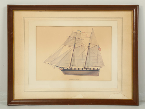 Sailing Ship Print from Glenview Naval Station