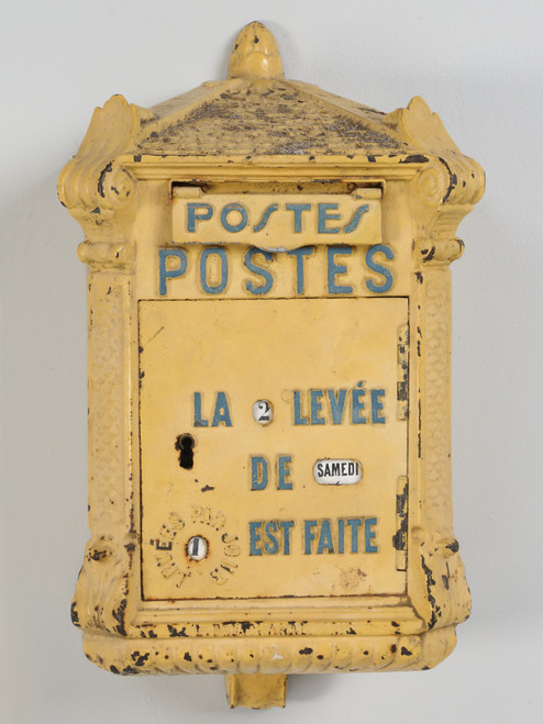 Antique French Mailbox from the Early 1900s Front