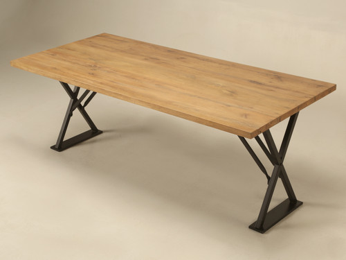 French White Oak Industrial Kitchen Table Main