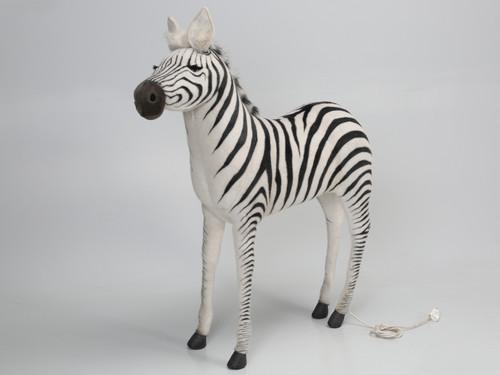 Animated Stuffed Zebra by Hansa