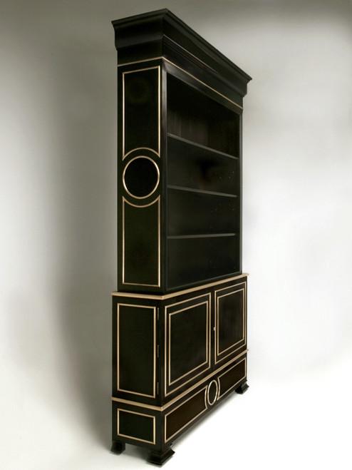 Custom Handmade Ebonized Bookcase