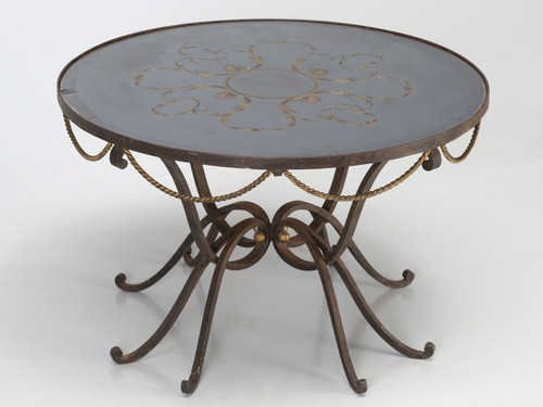 French Coffee Table Églomisé Subes Ingrand Front