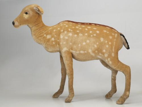 """1963 Steiff Mohair Fallow Deer """"Studio Animal"""""""