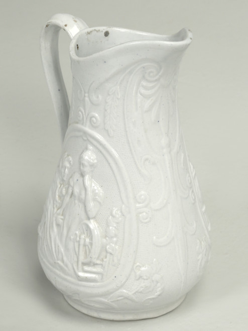 """English Staffordshire Pitcher """"Old Mother Hubbard"""""""