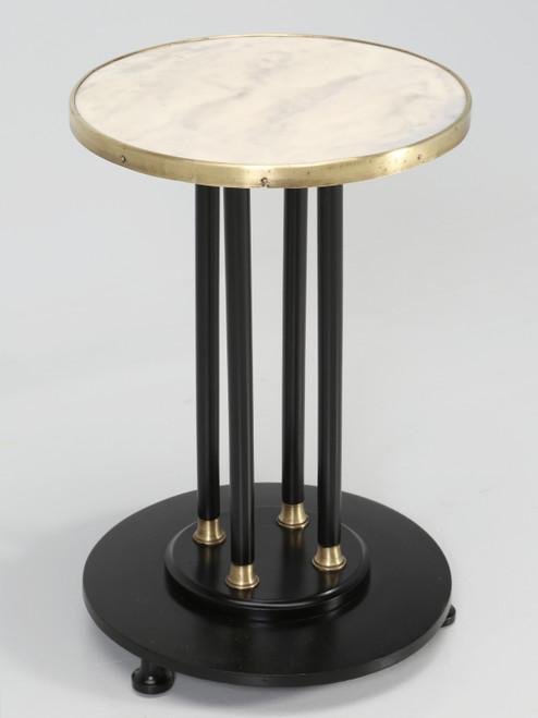 Antique French Empire Side Table Ebonized
