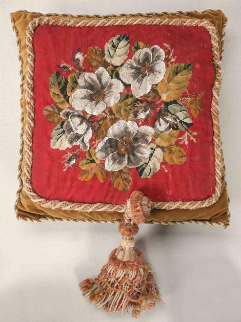 Circa 1900 Victorian English Beaded Pillow