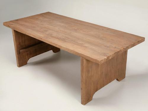 Rustic Hardwood Slab Table