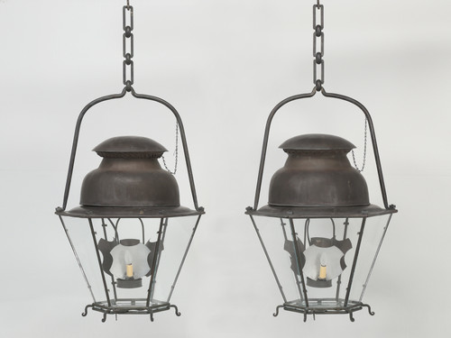 18th Century Style Copper Lanterns from French Blueprints