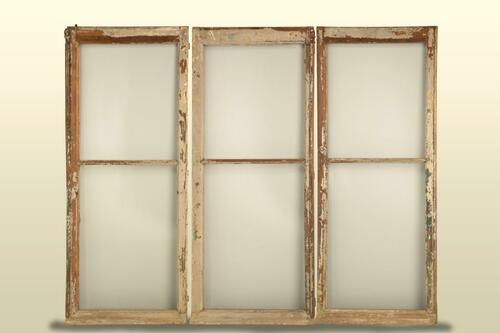 Unrestored Antique French Windows w/ Hardware
