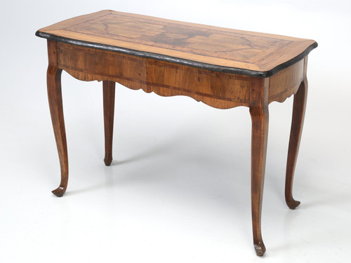 18th C. German Baroque Parquetry Console Angled Left