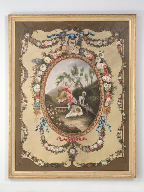 Belgium Oil Painting Titled Spring Garden Picnic