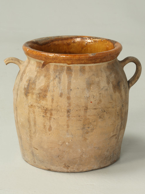 Antique French Pottery Pot or Vase