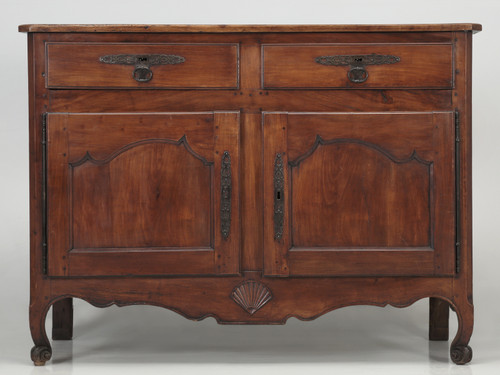 Antique French Louis XV Style Cherrywood Buffet Front