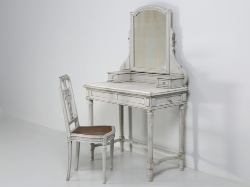 Antique French Dressing Table Matching Chair
