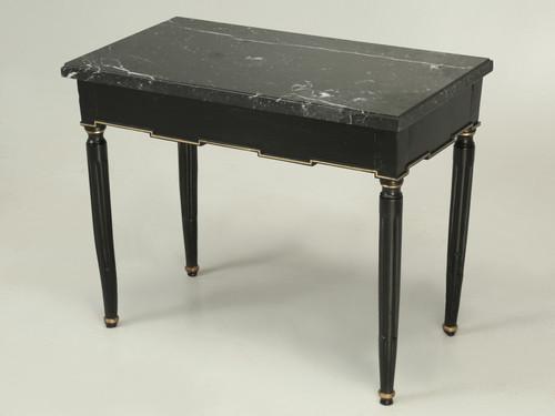 Antique Ebonized French Louis XVI Side Table