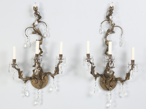 Pair of French Louis XV Style Sconces Front