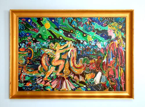 Roland David Original Oil Painting on Canvas 1965