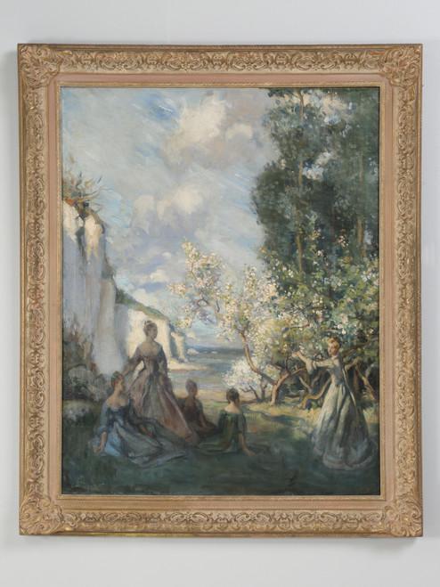 Original European Impressionist Painting c1900