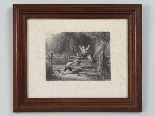"""French Lithograph """"The Woodland Gate"""""""