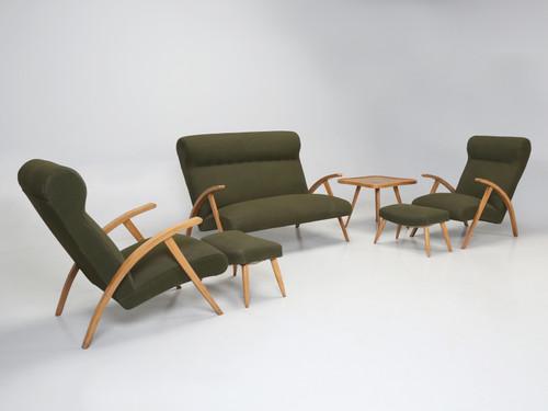 Italian Mid-Century Modern Complete Suite Set Angled