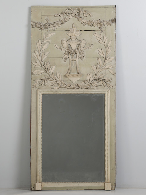 Antique French Painted Mirror Original Condition