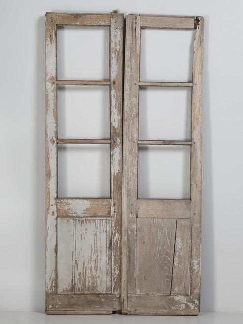 Pair of Antique French Doors Original Paint