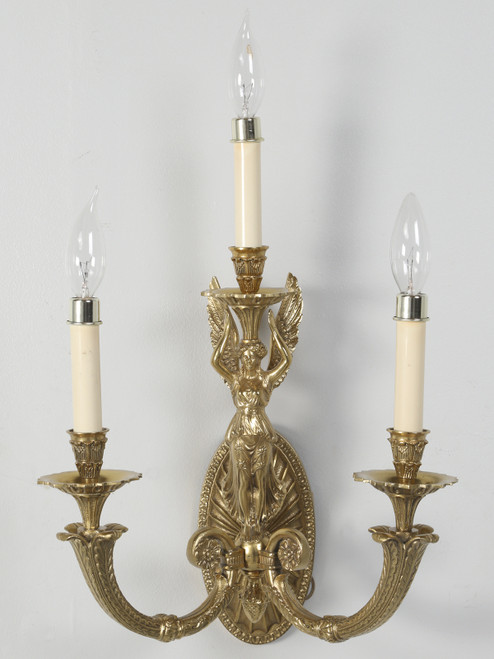 Brass Sconce, Single Unit and Well Made Front View