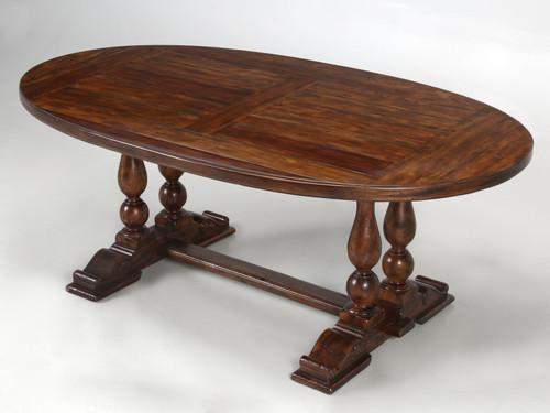 Reclaimed Hardwood Oval Dining Table Main