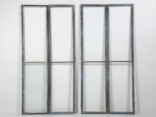 Set of '4' Original Blue Painted Cabinet Doors