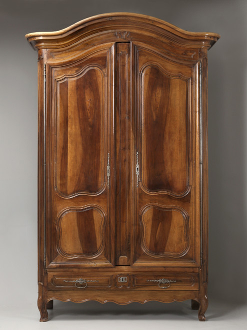 c.1780 Spectacular French Walnut Armoire Front