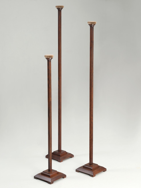 Set of 3 Hat Stands Made of White Oak